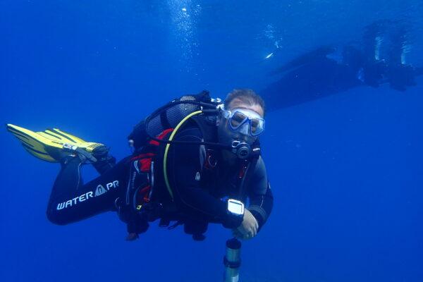 diving in clean waters